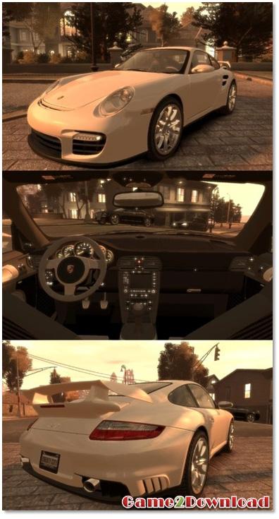 دانلود خودروی پورشه 911 GT2 برای GTA IV - گیم تو دانلود